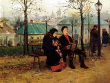 «На бульваре»: что скрыто в деталях картины Владимира Маковского