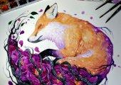 Акварельные животные: красочные арты, со скрытым смыслом