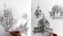 Легкость, красота, воздушность: архитектурные эскизы студентки из Казани