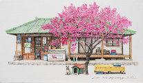 Акриловые скетчи: художница из Южной Кореи 20 лет рисует крохотные магазинчики