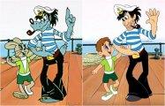 Персонажи детских мультфильмов в новом амплуа