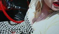 Ностальгия по эпохе: очаровательные девушки и ретро-автомобили в работах американского художника