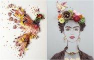 Цветочное волшебство: 25 удивительных произведений искусства, сделанных из настоящих цветов