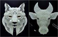 Филиппинский мастер создаёт минималистические 3D-портреты редких животных