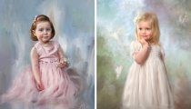 Цифровая живопись - новая страница в истории искусства: детские портреты Ричарда Рэмси