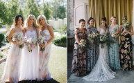 Цветочные платья для подруг невесты - новый свадебный тренд