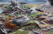 Многоликая абстракция: яркие картины-головоломки с подтекстом