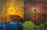 Красота фантастическая: огненные искры из стальной ваты в объективах фотографов: