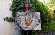 «Пуговичные» полотна: девушка создаёт потрясающие картины из того, что под рукой
