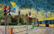 Бумажная живопись: польский художник создаёт городские пейзажи, используя лишь бумагу и клей