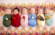 Интернет покорила фотосессия с бесподобными новорожденными малышками в образах Диснеевских принцесс