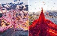 Созерцая прекрасное: 17 потрясающих фотографий девушек в великолепных платьях на фоне пейзажей удивительной красоты