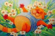 Ай, да котики: Позитивно-радостные картины Антона Горцевича, на которых мурлыки наслаждаются жизнью