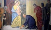 В Витебском костеле появились фрески с Путиным и Обамой