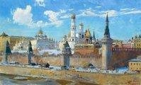 Исторические и жанровые композиции московского художника, которые позволяют прикоснуться к гармонии