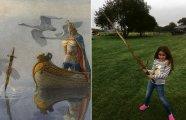 Легендарный Экскалибур? Девочка нашла меч в озере из сказаний о короле Артуре