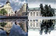 «Параллельные миры»: Фотограф снимает отражения в городских лужах по всему миру