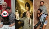 Ни капли зазнайства: 15 забавных фото поклонников с Элайджей Вудом