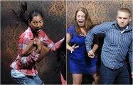 Ужасающее веселье: 20 жутко смешных снимков, сделанных скрытой камерой в комнате страха