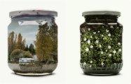 14 восхитительных пейзажей «законсервированных» в банки с помощью двойной экспозиции