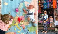 «Сумасшедшая мамочка» родила второго ребёнка и отправилась путешествовать по всему миру