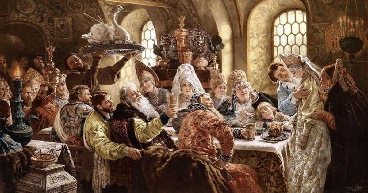 Свадебный стол на Руси